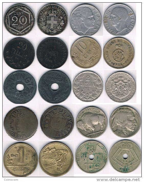 Lot 10 monnaies anciennes old coins - oude munten  #2