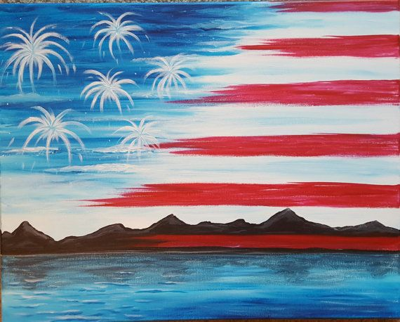 Patriotic Painting Art For My House Gift For A by GettingMyArtsyOn