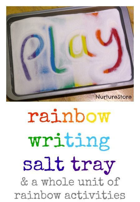 rainbow writing salt tray