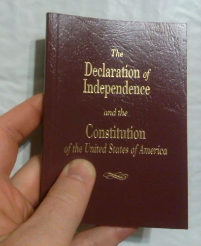 CONSTITUTION DAY IS COMING! SEPTEMBER 17! BRAND NEW & POCKET SIZED!! The Declaration of Independence and the Constitution of the United States (The Pocket Constitution) (Paperback) With a preface by R