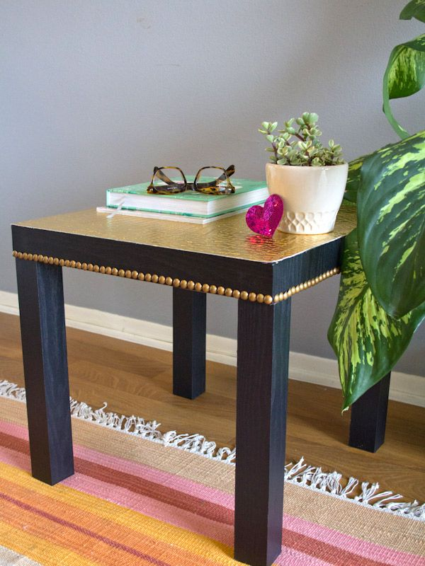 The IKEA LACK table gets a golden DIY makeover by @Chelsea Costa