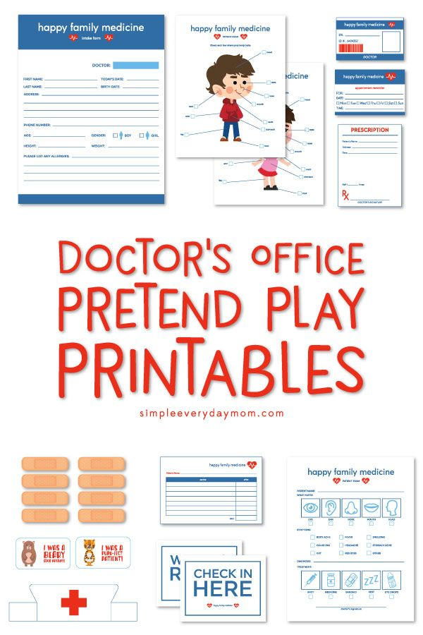 Dramatic Play Doctors Office Printables Dramatic Play Preschool Dramatic Play Printables Dramatic Play