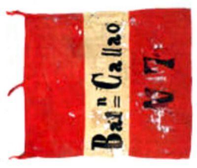 Estandarte del Batallón Callao N° 7 capturado en la guerra del pacífico.
