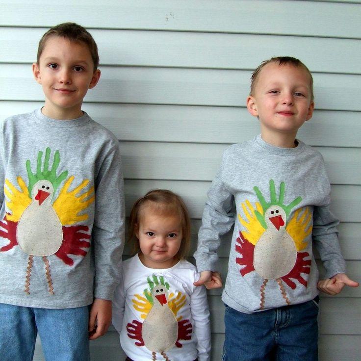 Hand print turkeys, love it for thanksgiving day shirt