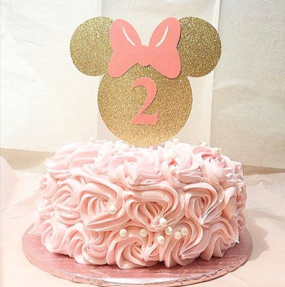 Minnie Mouse-cake topper-custom birthday by Torisshoppe on Etsy