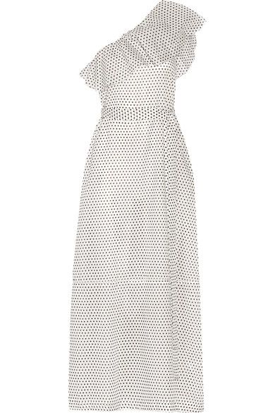 Lisa Marie Fernandez - Arden One-shoulder Polka-dot Cotton-voile Maxi Dress - White -