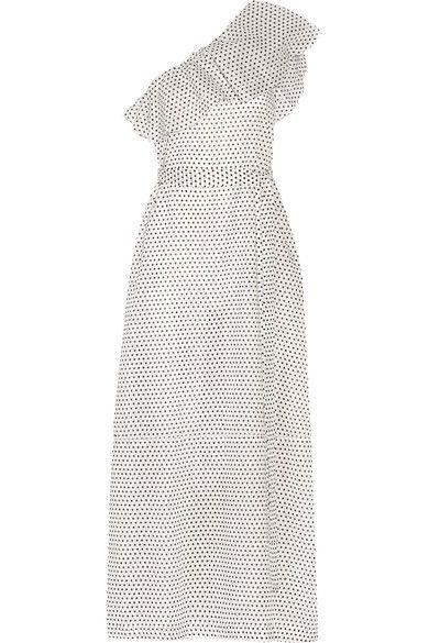 Lisa Marie Fernandez - Arden One-shoulder Polka-dot Cotton-voile Maxi Dress - White -