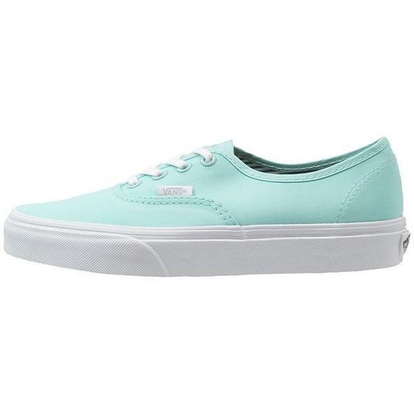 Vans AUTHENTIC Trainers sea green ($74) ❤ liked on Polyvore featuring shoes, sneakers, vans, flats, mint, vans shoes, mint flats, mint green flat shoes, cap toe shoes and mint shoes