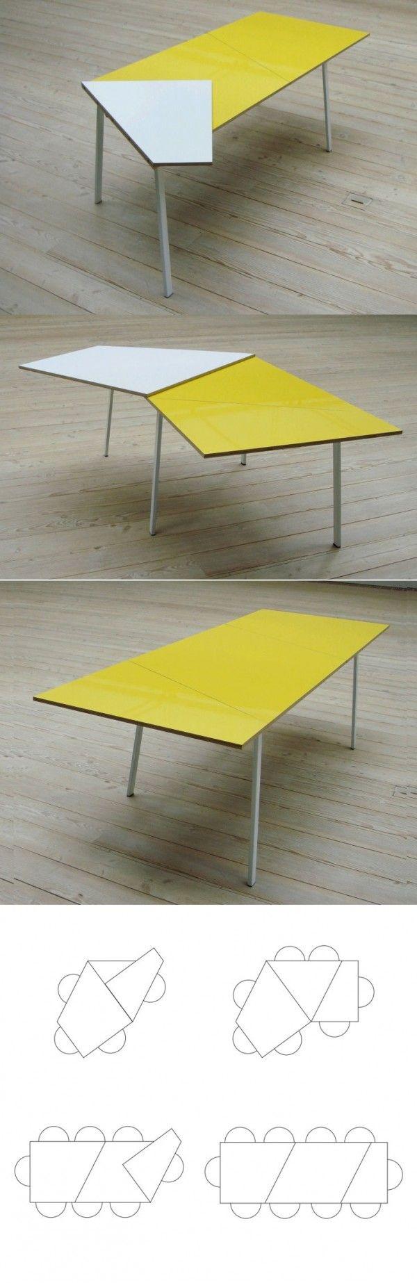 les 25 meilleures id es de la cat gorie table modulable sur pinterest table convertible d cor. Black Bedroom Furniture Sets. Home Design Ideas