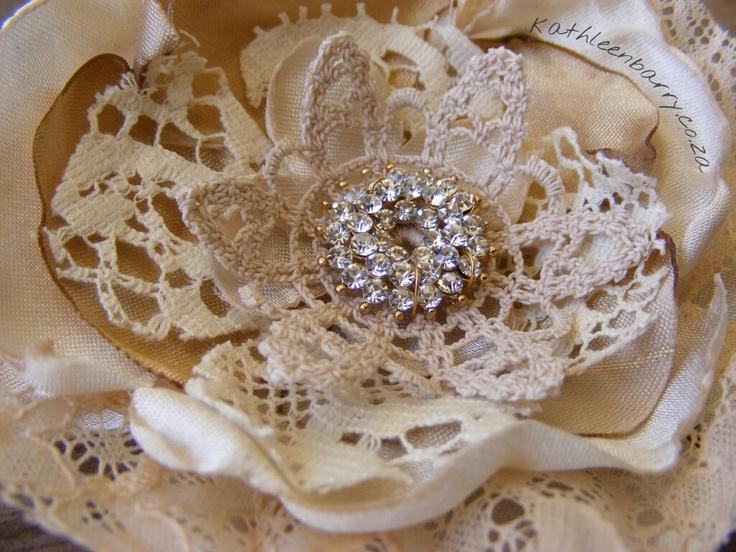 fabric flowers wedding hair