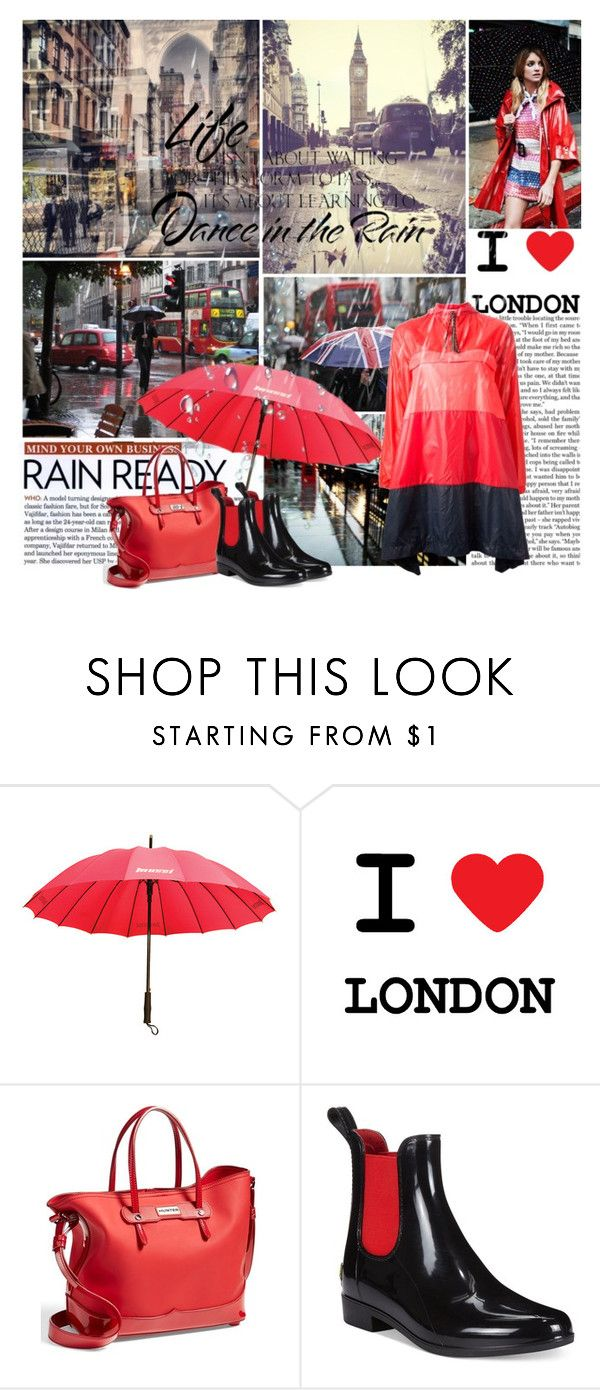 """""""RAINY LONDON"""" by gustosamente ❤ liked on Polyvore featuring TAXI, Mossi, Nicki Minaj, Hunter and Lauren Ralph Lauren"""