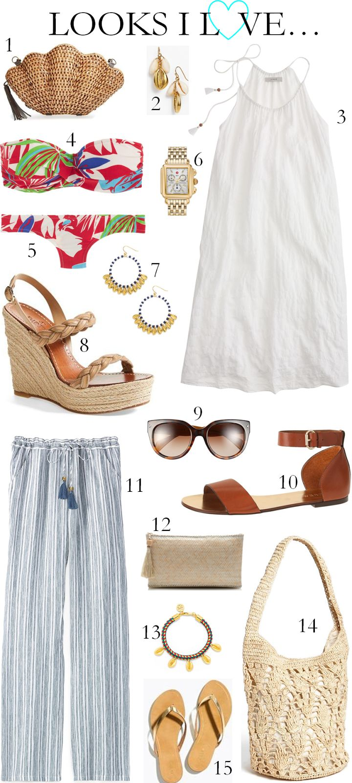 CHIC COASTAL LIVING: LOOKS I LOVE // RESORT EDITION @nordstrom #nordstrom @ToryBurch #toryburch #jcrew