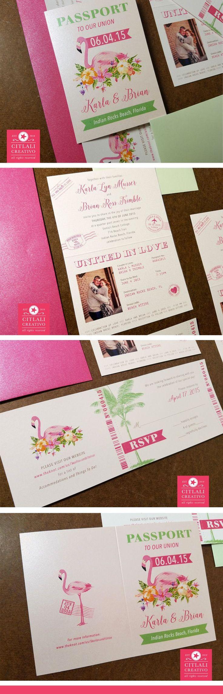 10 Best Passport Ticket Style Invitations Images On Pinterest