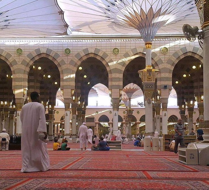 The Courtyard of Masjid nabawi