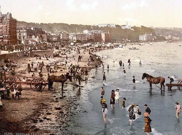 Douglas, the beach, Isle of Man, England between 1890 and 1900
