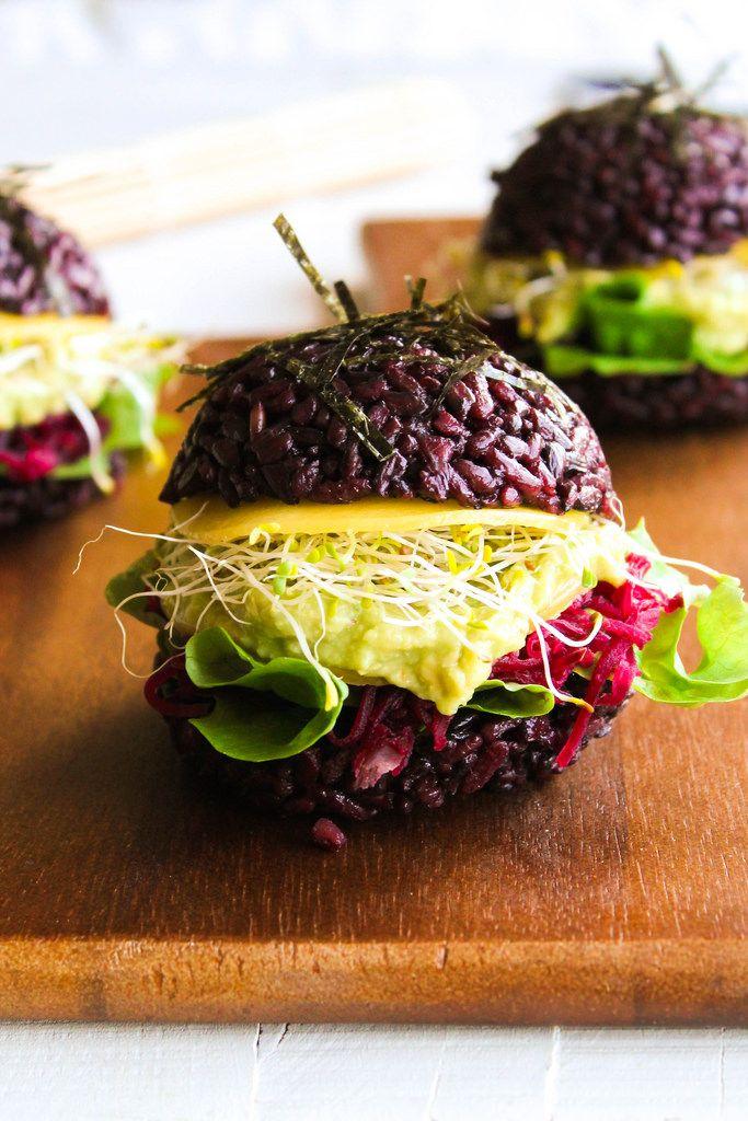 Black sushi burger {vegan - sans gluten} - aime & mange
