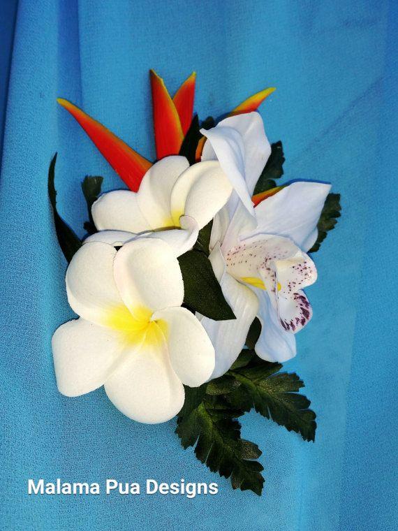 ORCHIDÉE & Clip fleur de PLUMERIA fleurs à cheveux par MalamaPua