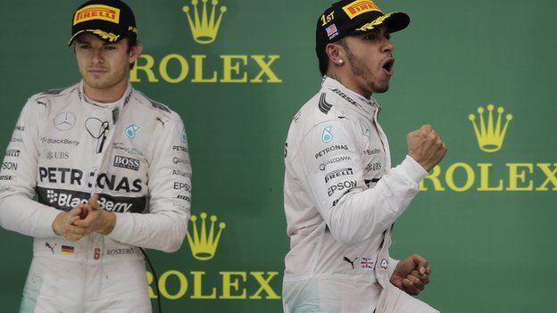 BBC Sport - Lewis Hamilton wins his third F1 World Championship
