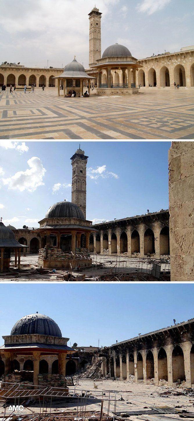Me ha gustado mucho tu aportación, pues si se hubiera conservado esta ciudad sería un lugar digno de ver, pero en la actualidad es un fiel reflejo de cómo queda la ciudad tras una guerra donde se destruyó el Zoco Al-Madina entre otros edificios medievales con bombardeos y ataques. La ciudad antigua de Aleppo fue declarada Patrimonio de la Humanidad por la Unesco en 1986 y estaba forma por el centro histórico, rodeado por una muralla con siete puertas y los barrios antiguos.