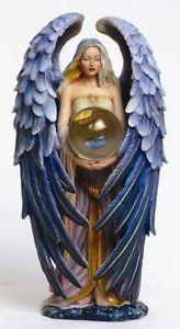 Sheila Wolk Art | Sheila Wolk Art Tranquility Angel Statue Figurine Crystal Ball ...