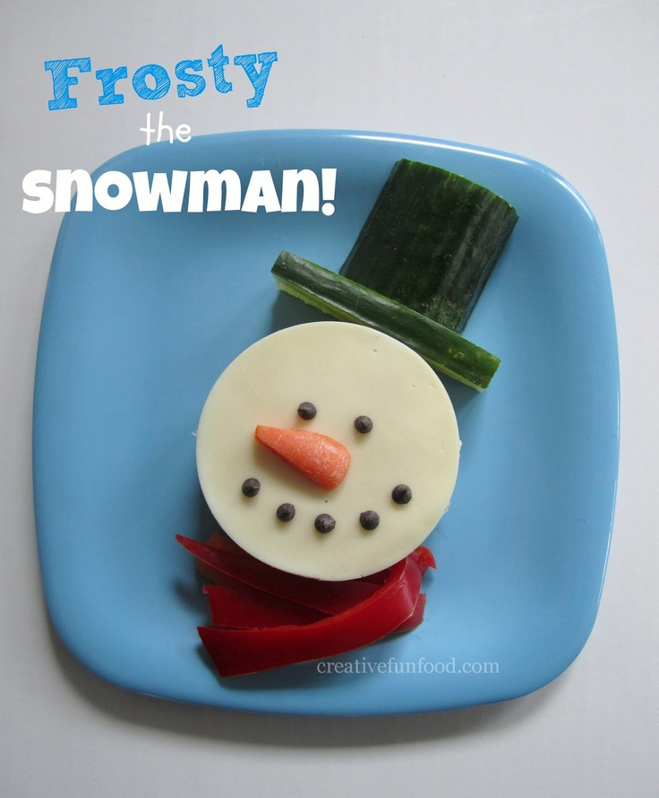 Frosty the Snowman Lunch creativefunfood.com