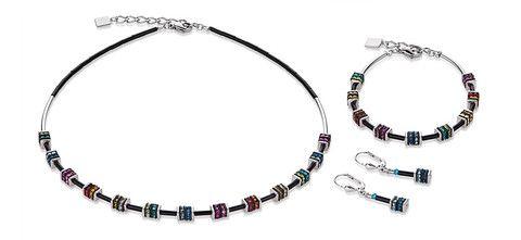 Geo Cube half mini rainbow coloured necklace, bracelet and earrings 4772_1500