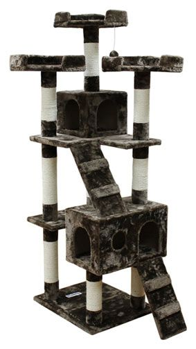 ... cat tree. The combination of sisal rope and soft plush gives the tree #cattower - More about Cat Tower at - Catsincare.com!