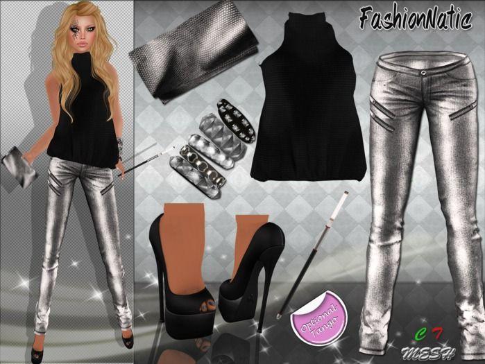 MESH Silvereen Outfit FashionNatic