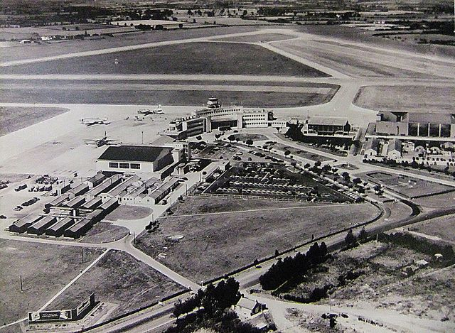 Dublin Airport from the air in 1960