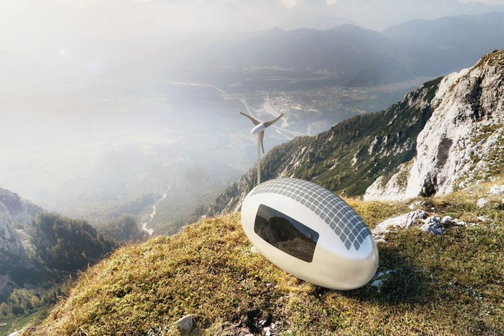 low-energy ecocapsule by nice architects encourages off-grid living