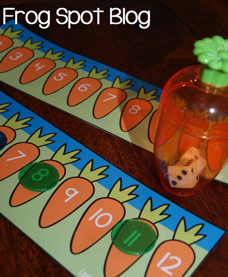 FREE Print & Play Number Addition Game Easter/Carrots Theme