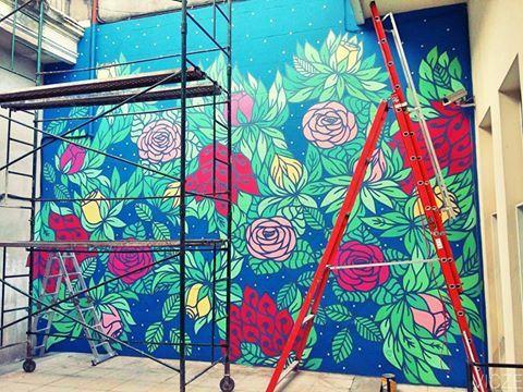 Compartimos el mural realizado en #ICANA por la artista Victoria Czentner