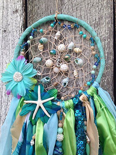 Amazon.com: Mermaid Dreamcatcher - mermaid collection - mermaid decor - star fish - dream catcher - gypsy dreamcatcher - sea shell dreamcatcher: Handmade