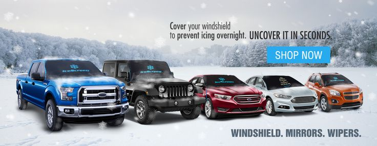 Windshield covers for snow and ice to keep your windshield clear. Get a clear view of the road in seconds with the iceScreen magnetic ice shield.
