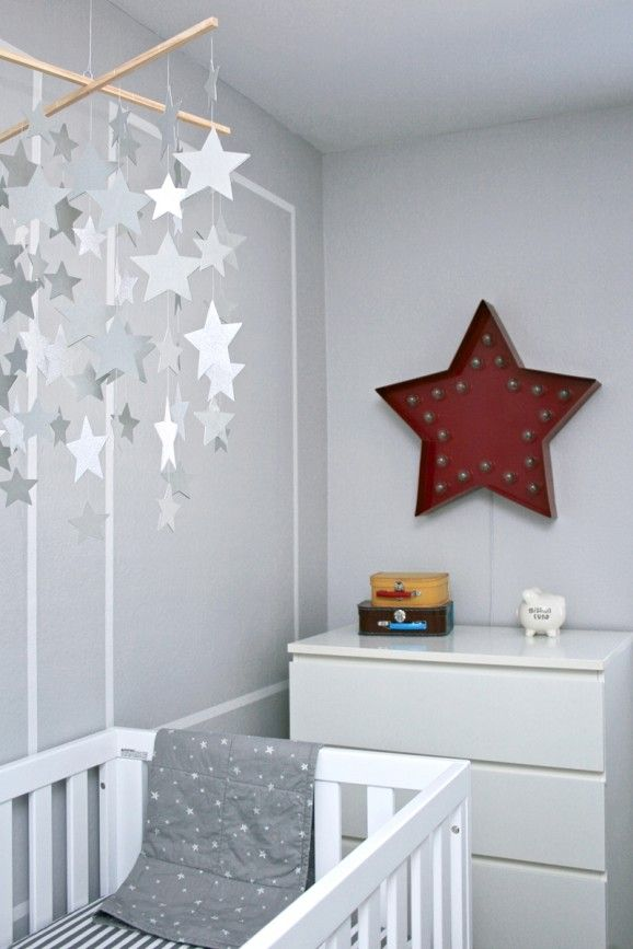 star nursery Chambre Bébé décoration Nursery garçon fille baby bedroom boys girls enfant diy home made fait maison