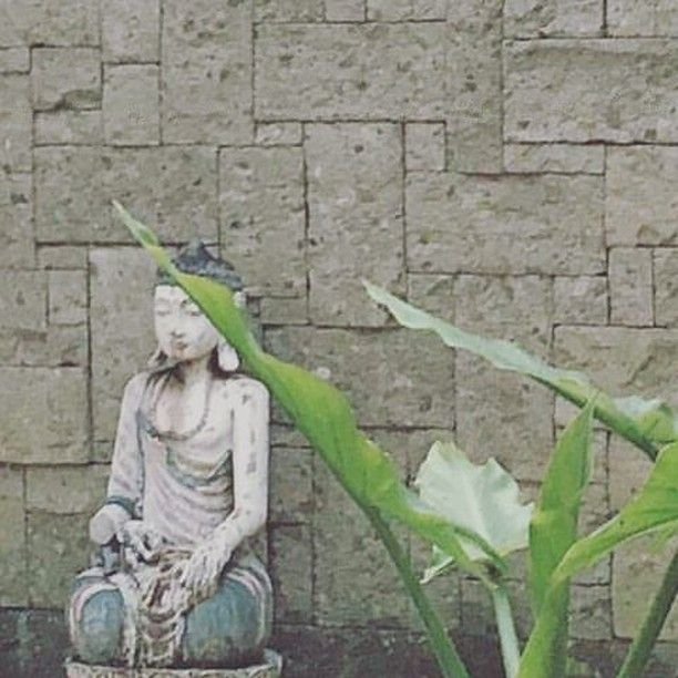 Garden art at Semarapura Villa. Statues against local stone and water plants. Textures and materials for the Bali Landscape experience. By Bali Landscape Company http://ift.tt/1QzTwns  #pond #stone #stonework #stonewall #stonecladding #landscape #statue #waterplants #landscapedesigner #landscapearchitecture #gardenlovers #lombok #taman #tropicaldesign #tropicallandscape #balilandscaper #land #gardenideas #gardenlovers #tropicaldesign #tropicallandscape #landscapearchitect #garden…
