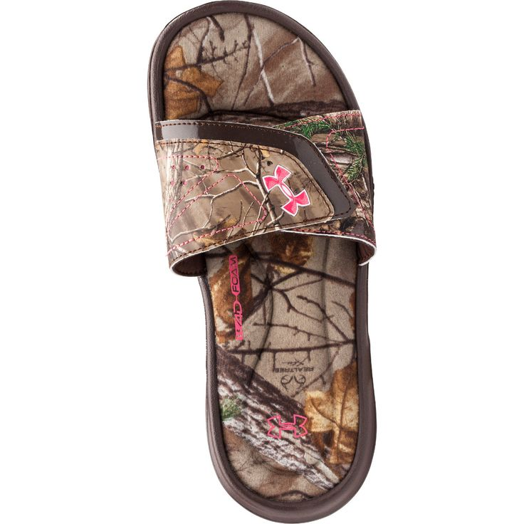 Under Armour Womens Ignite Camo VII Slide Sandal-822076 - Gander Mountain