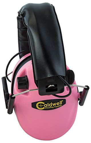 nice Caldwell Pink Low Profile E-Max Electronic Ear Muffs