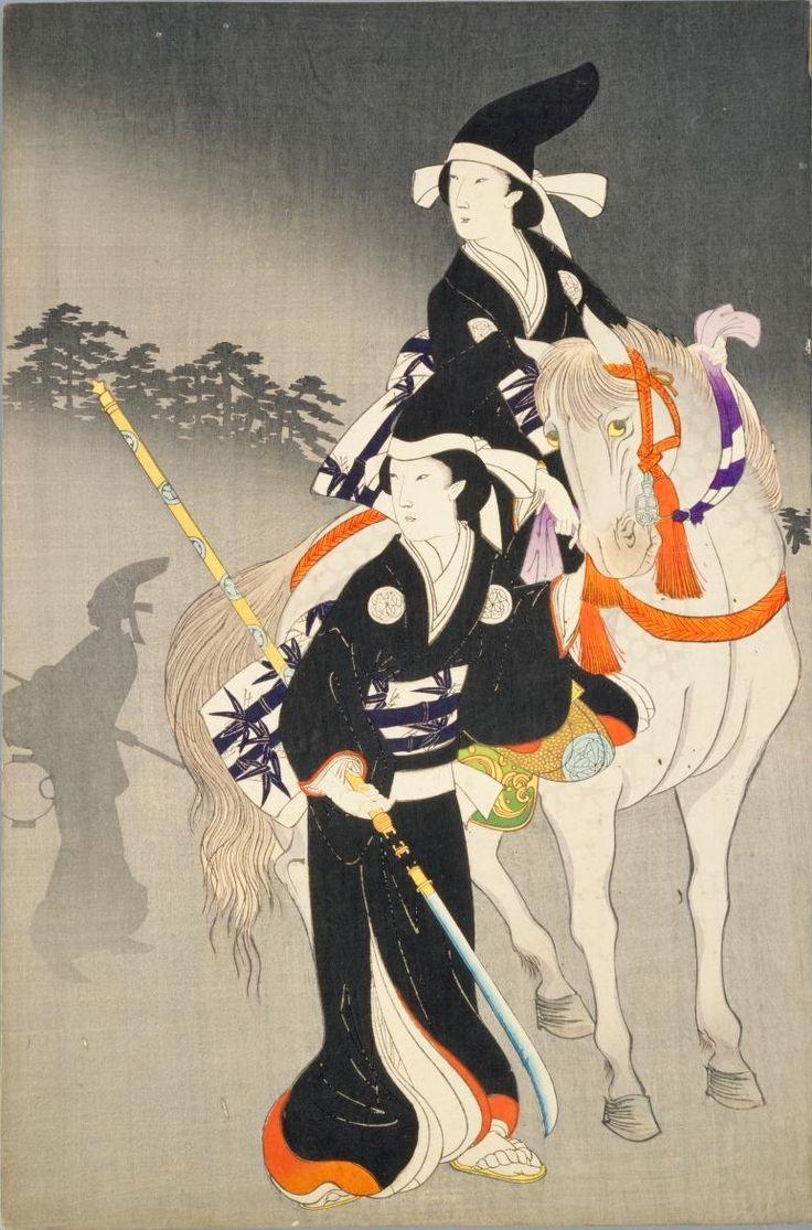 Chiyoda no Ōoku / Chikanobu 千代田乃大奥 おたち退 揚州周延 1895年 温故東の花 旧失火之際奥方御立退之図 揚州周延 1887年