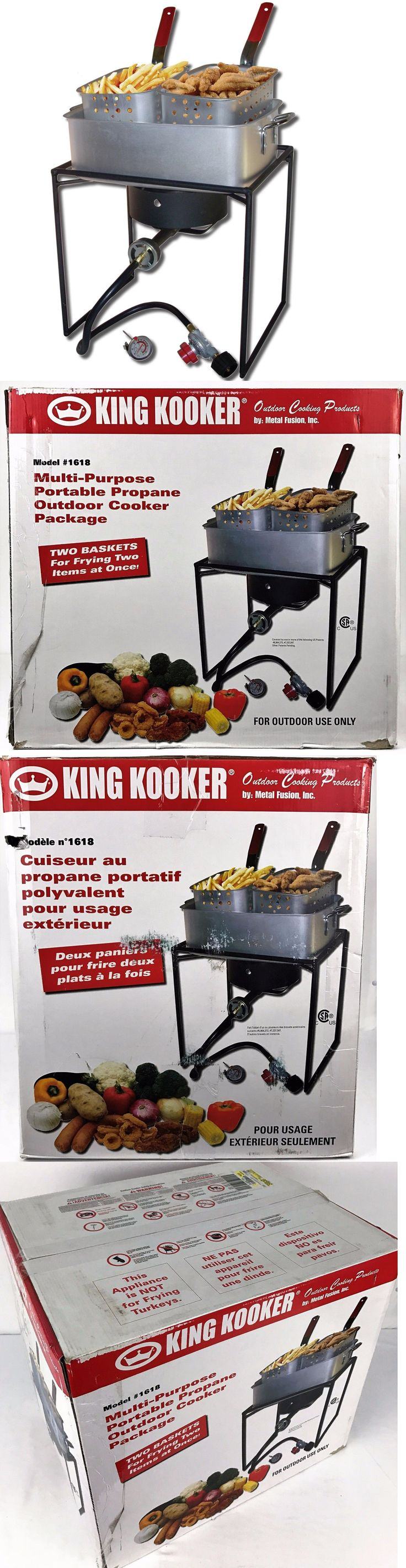 Other Outdoor Cooking and Eating 159926: King Kooker Outdoor Propane Deep Fryer Cooker W 15 Qt Fry Pan + 2 Baskets #1618 -> BUY IT NOW ONLY: $59.99 on eBay!