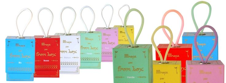 """LLLROPE BOX Collection, the eau de parfume for your home; no rattan wood but the """"rope"""" for the diffusion. Six colours for six fragrances...various fine bouquet of essences! Amazing italian design on www.mirabiliashop.com from Venice - Italy"""
