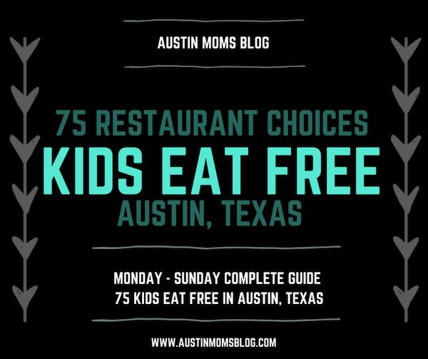 Where can kids eat FREE in Austin Texas Growing up in a large family, I know truly understand the cost associated with taking the entire family out for a meal. There are several restaurants in and around the Austin Texas area that allow kids to eat for free or almost free.