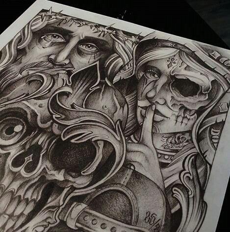 Chicano Art.... See no Evil, Hear no Evil, Speak no Evil