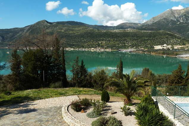 The gorgeous view from Villa Vangelis
