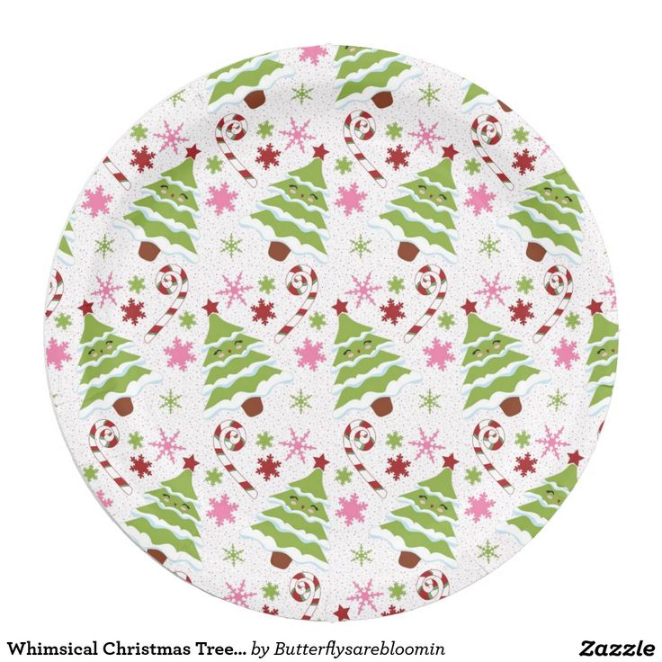 Whimsical Christmas Trees \u0026 Candy Canes Paper Plate  sc 1 st  Pinterest & 993 best Christmas Paper Plates images on Pinterest | Christmas ...