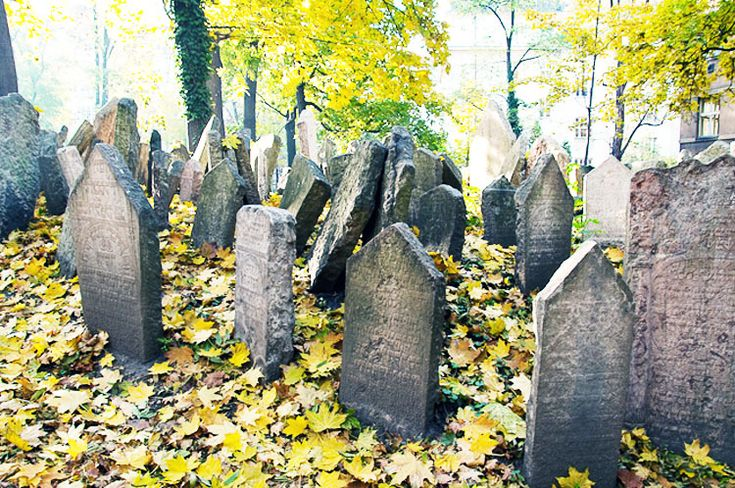 Old Cemeteries | Old Jewish Cemetery in Prague, Czech Republic - Cemetery view images