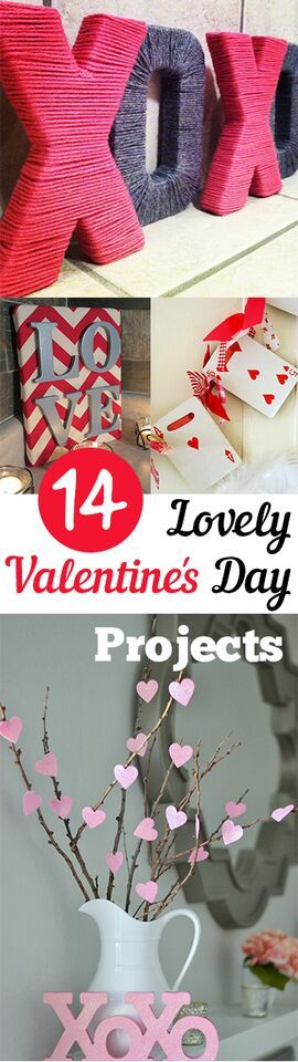 14 Lovely Valentines Day Projects. Valentines, Valentines day ideas, Valentines gift, DIY, holiday, holiday décor, holiday gifts