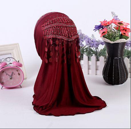 Diamond Tassel Decorated Hijab //Price: $10.60 & FREE Shipping //     #hashtag4