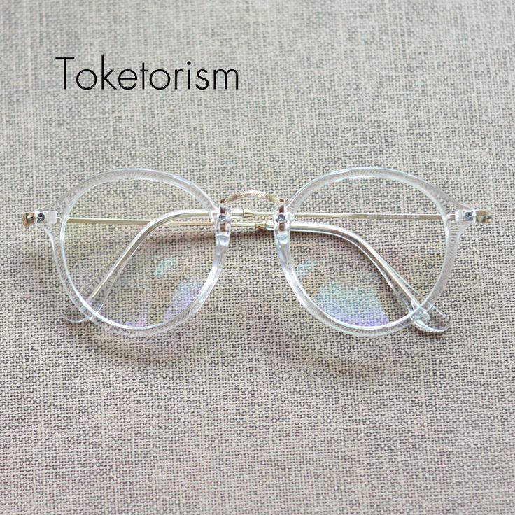awesome Tendance lunettes : Vintage gafas transparentes frames lunettes de vue pour hommes femme popular cle...