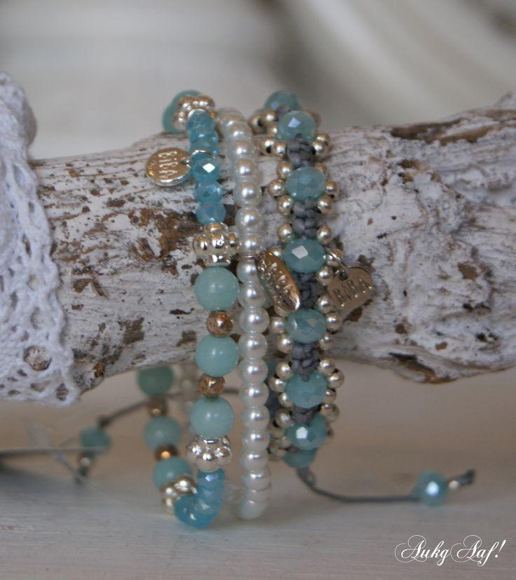Biba armbandjes turquoise...AukgAaf!